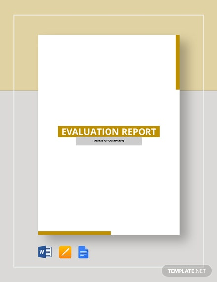 evaluation report 3