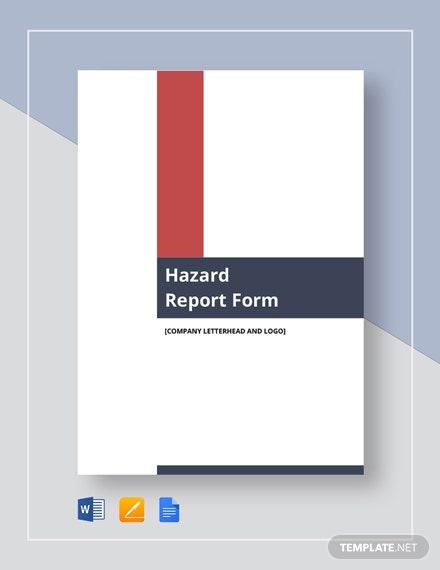 Hazard Report Form Template
