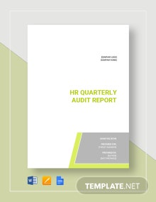 HR Audit Report Template