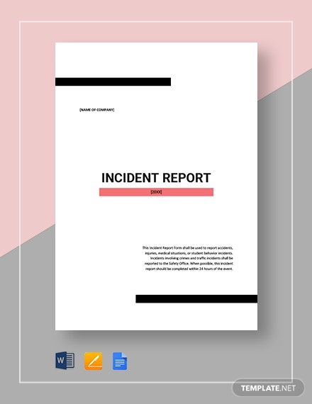 incident report 2