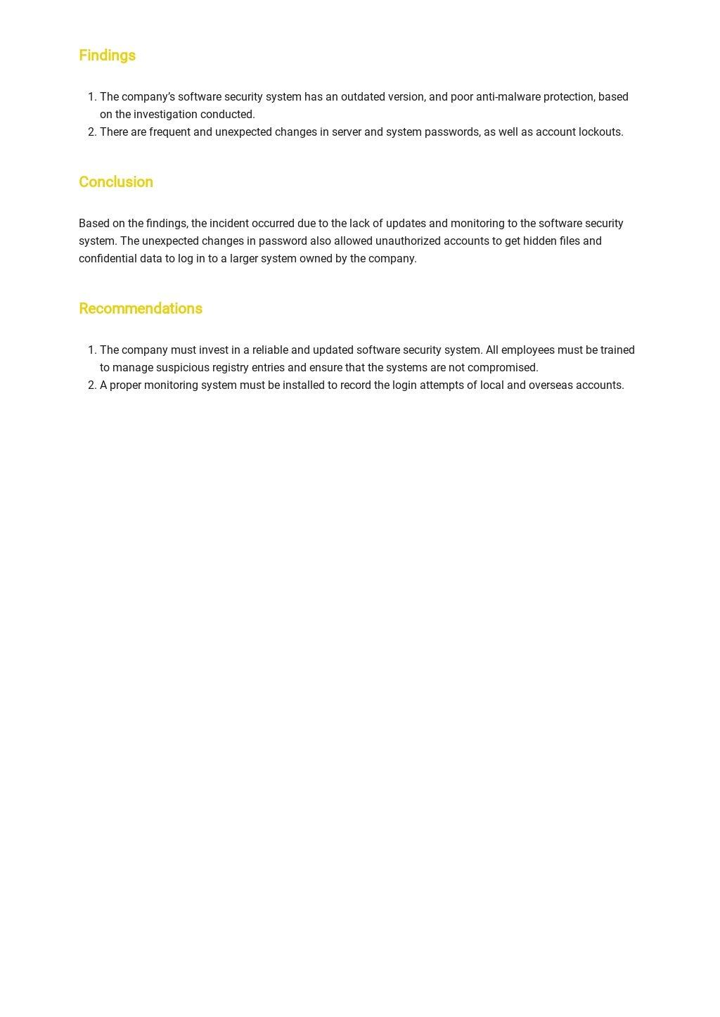 Incident Report Template [Free PDF] - Google Docs, Word