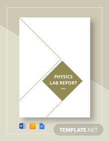 Physics Lab Report Template