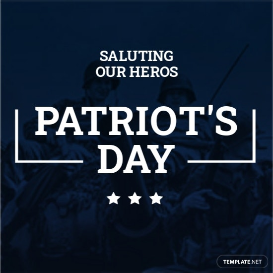 Patriots Day Facebook Profile Photo Template.jpe