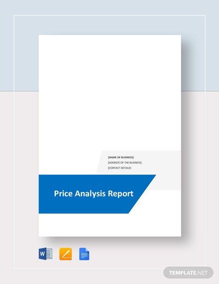 Price Analysis Report Template