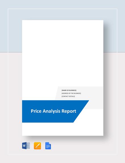 price analysis report