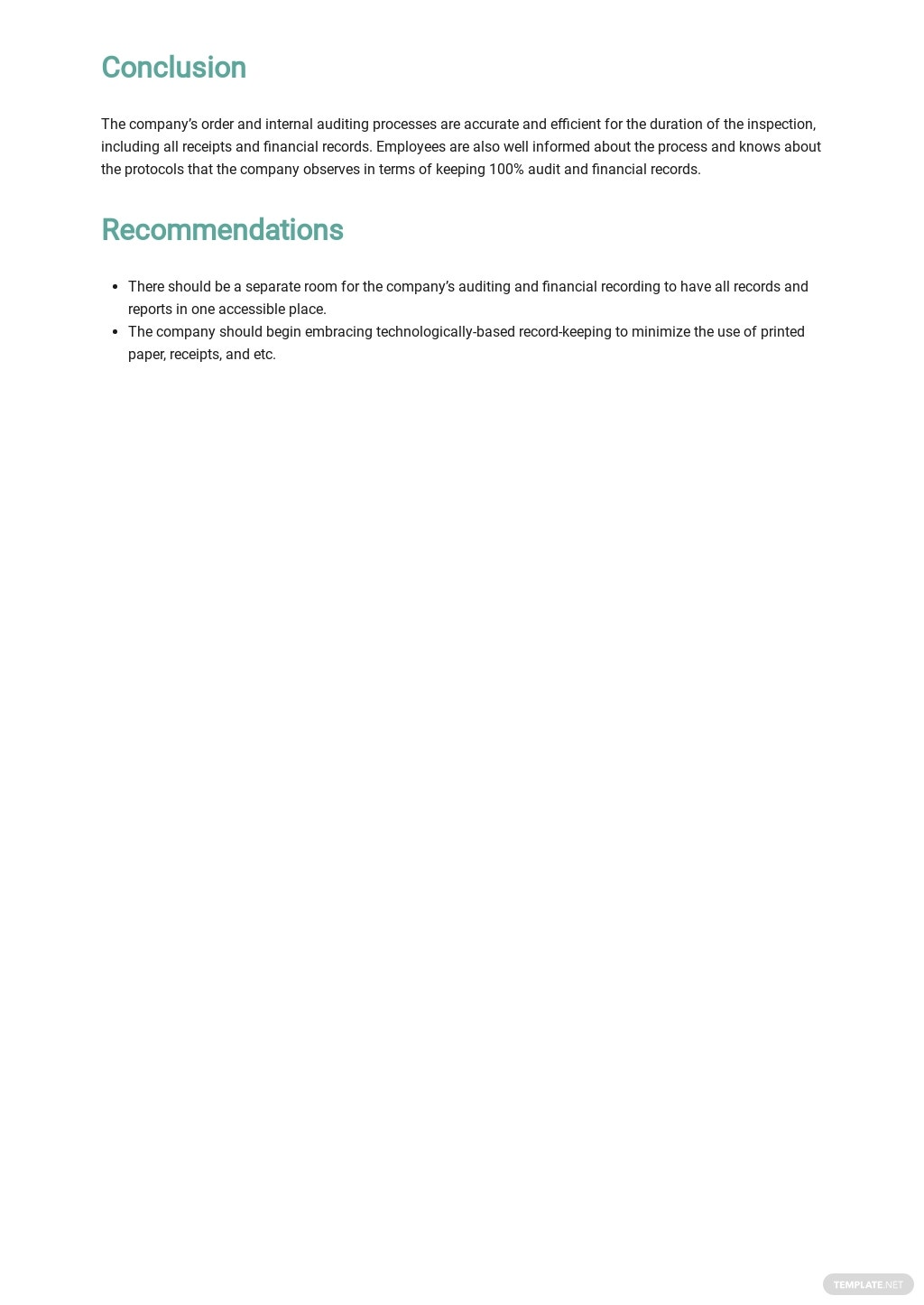 Private Company Audit Report Sample Template  2.jpe