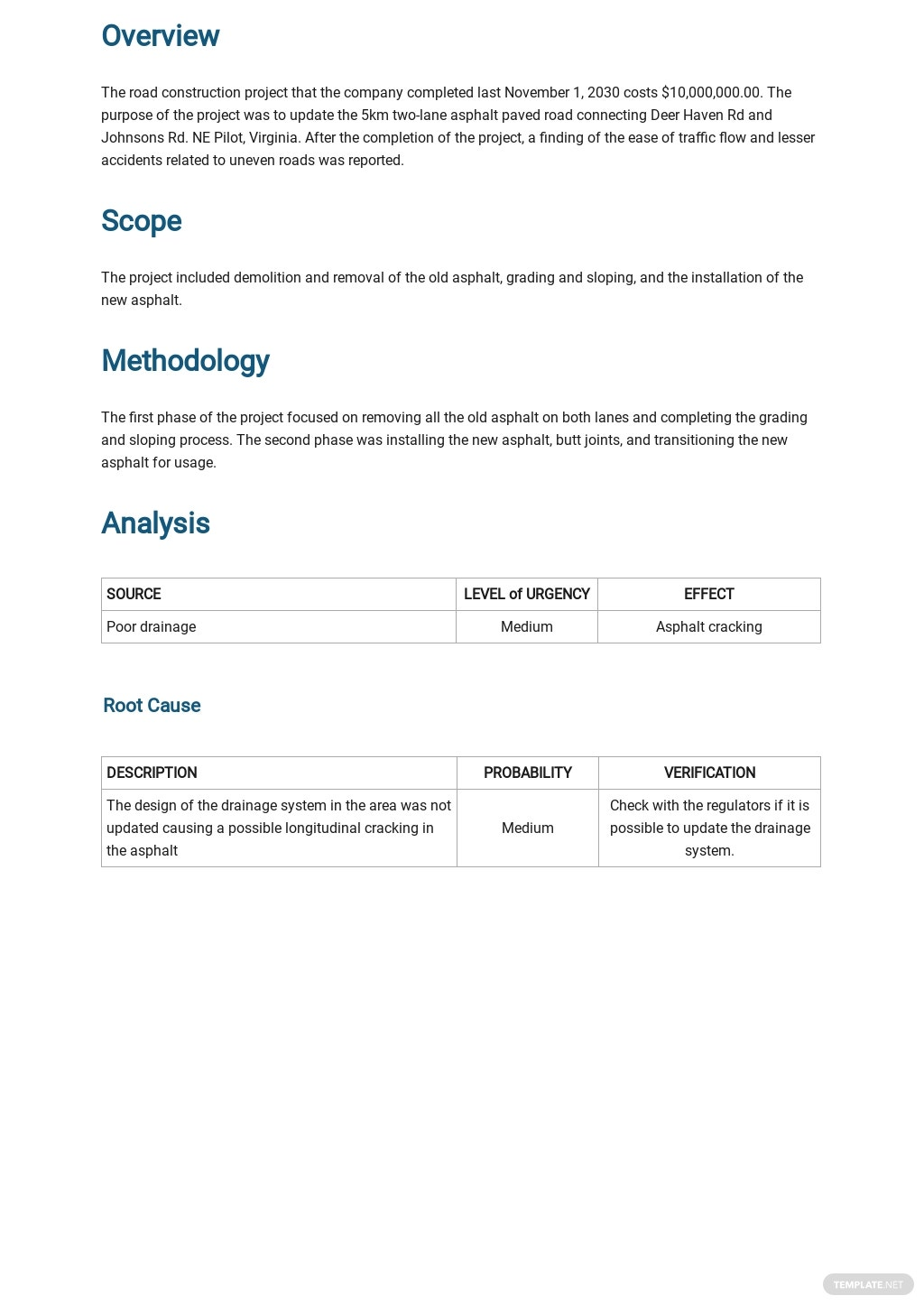 Project Analysis Report Template 1.jpe