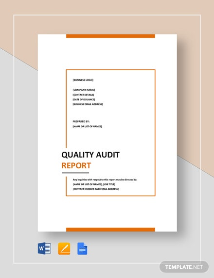 quality audit report