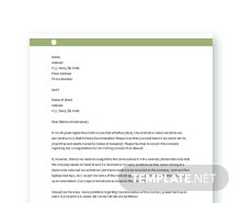 Free Contract Termination Letter Template