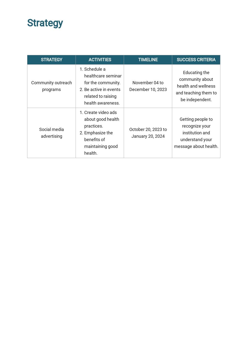 Healthcare Marketing Plan Template  3.jpe