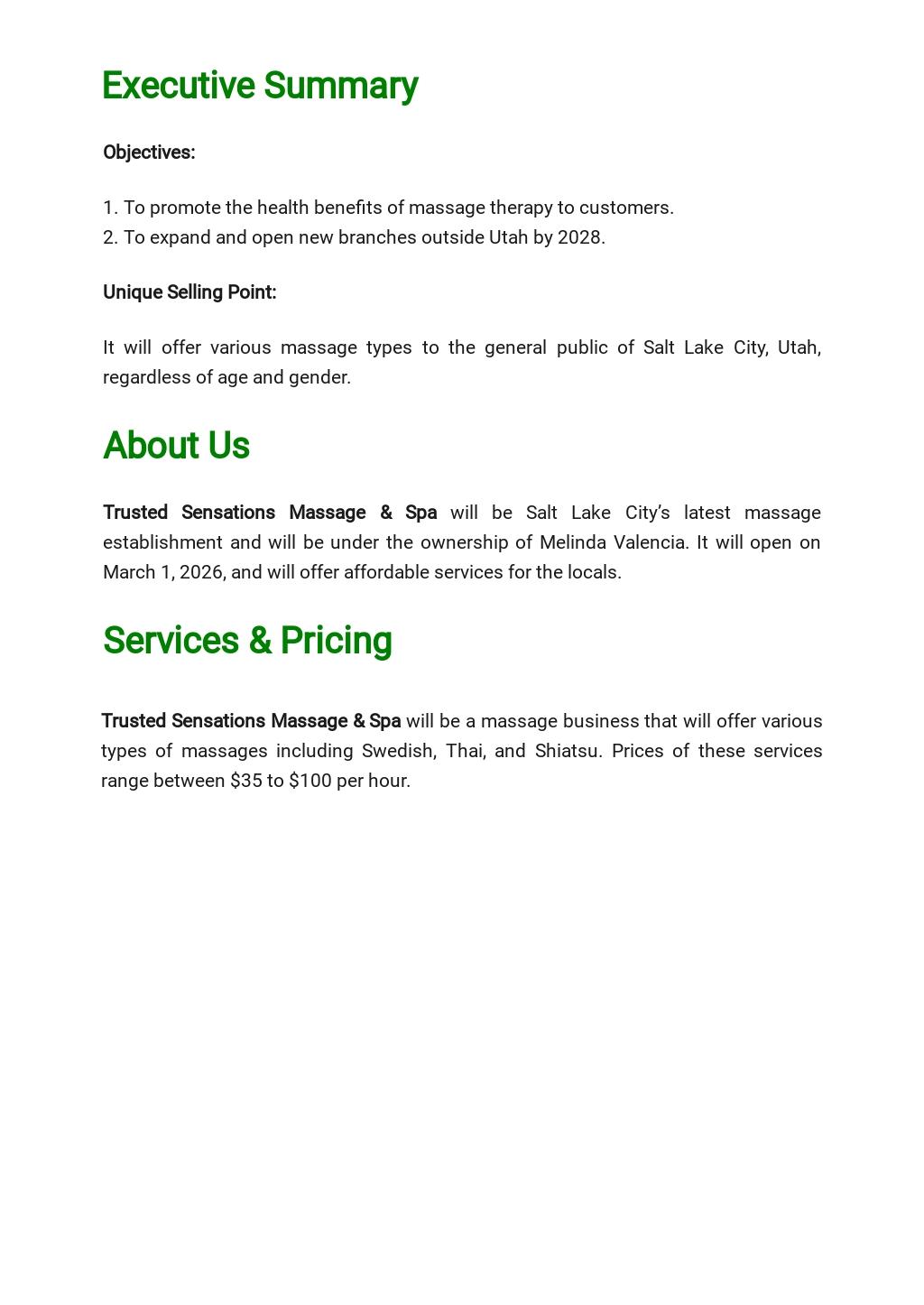 Massage Therapy Business Plan Template  1.jpe