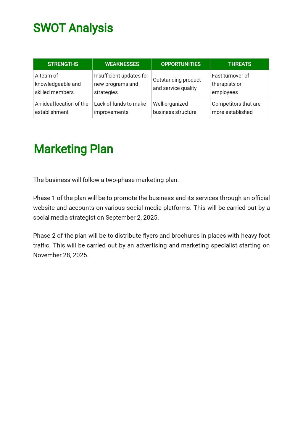 Massage Therapy Business Plan Template  3.jpe