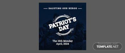 Free Patriot's Day Google Plus Header Photo Template