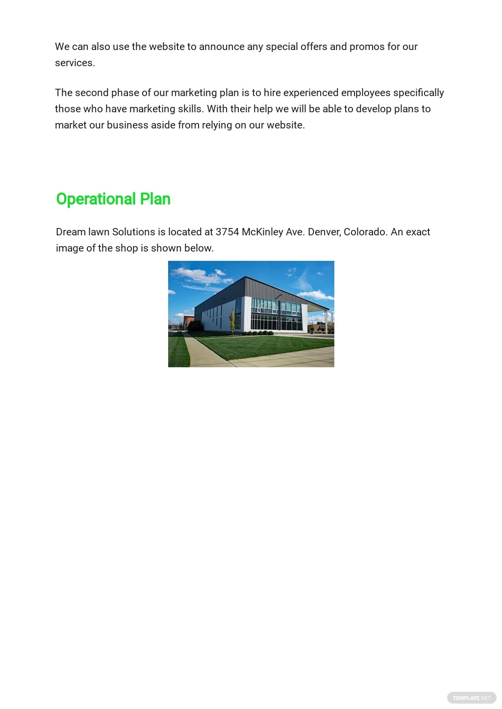 Lawn Care Business Plan Template [Free PDF] - Google Docs, Word, Apple Pages, PDF