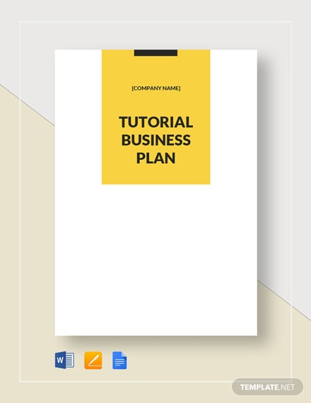 Tutoring Business Plan Template