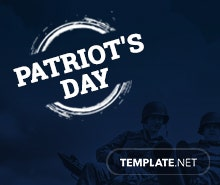 Free Patriot's Day Instagram Profile Photo Template