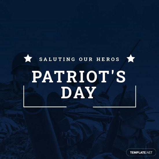 Patriot's Day Instagram Profile Photo Template