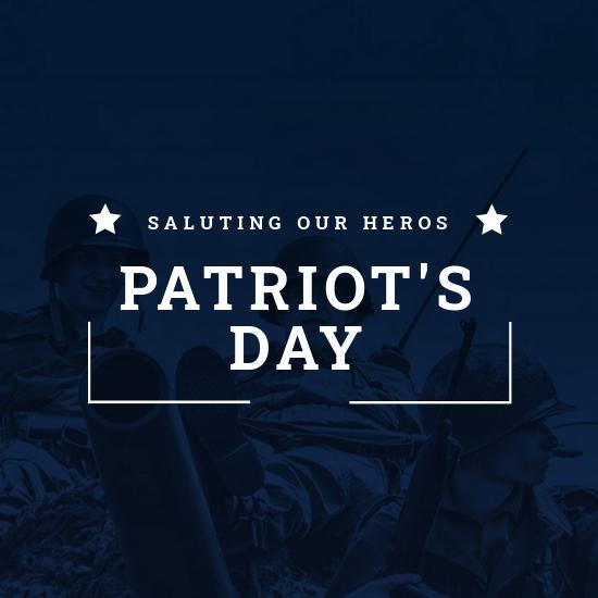 Patriot's Day Instagram Profile Photo Template