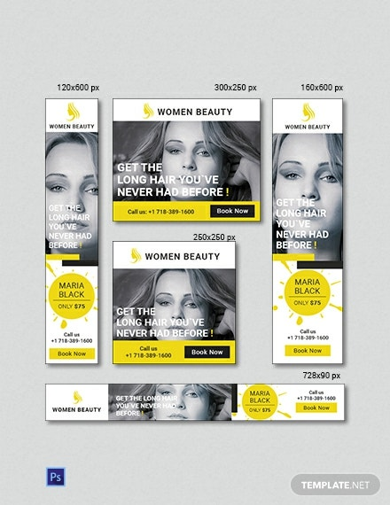 Free Beauty Parlor Banner Ads Template