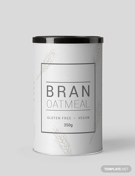 Free Simple Food Label Template