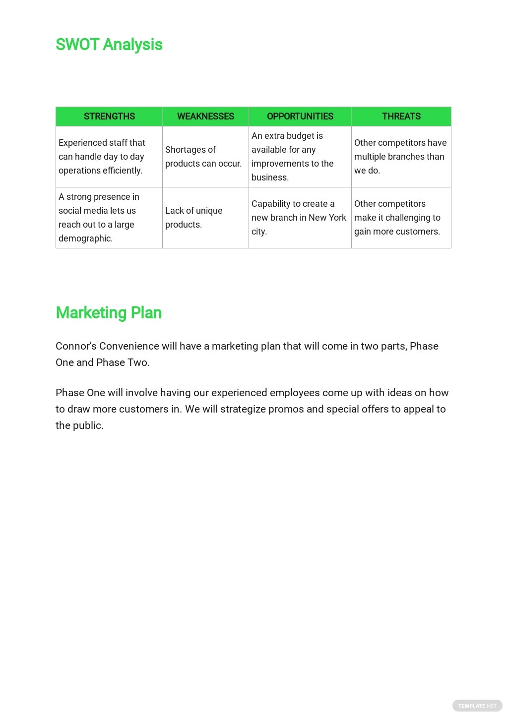 Convenience Store Business Plan Template  3.jpe