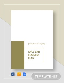 Juice Bar Business Plan Template