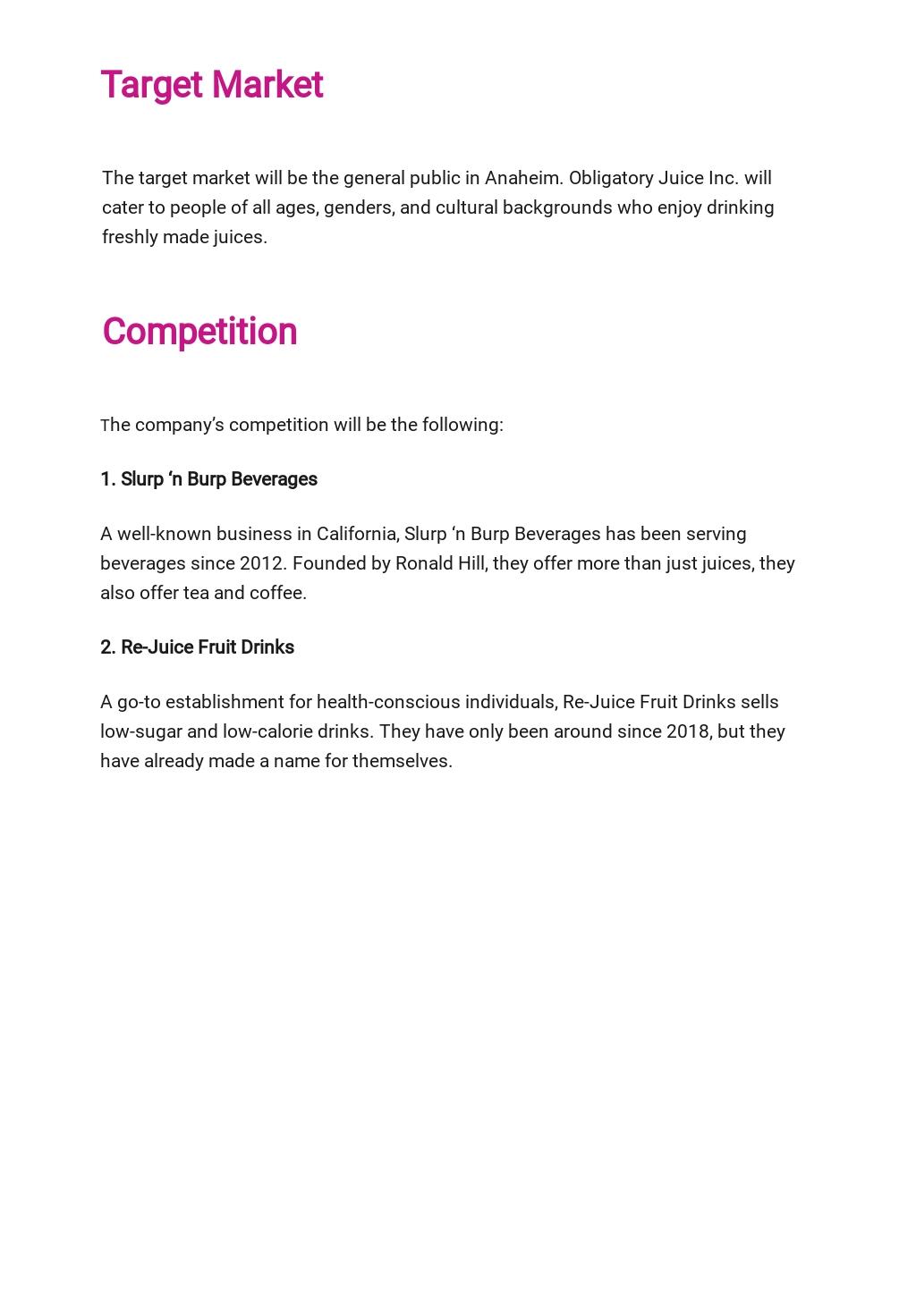 Juice Bar Business Plan Template  2.jpe