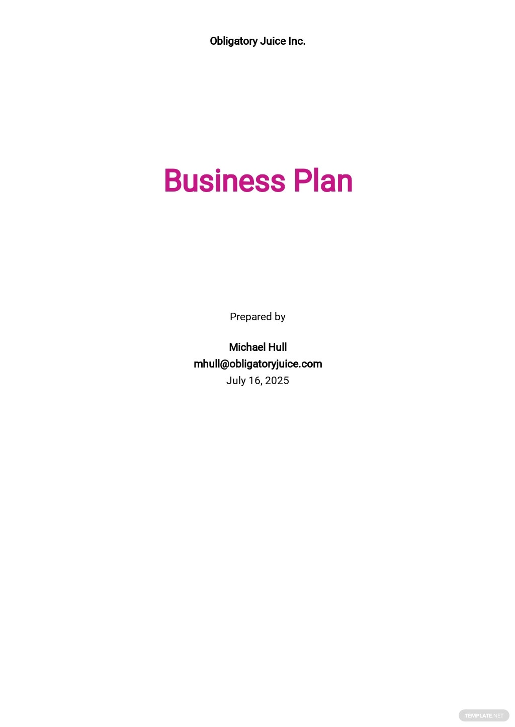 Juice Bar Business Plan Template .jpe