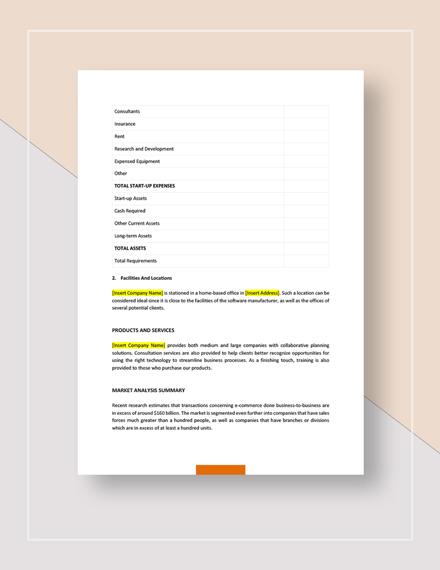 Sample Simple Sales Business Plan