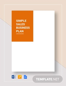Simple Sales Business Plan Template