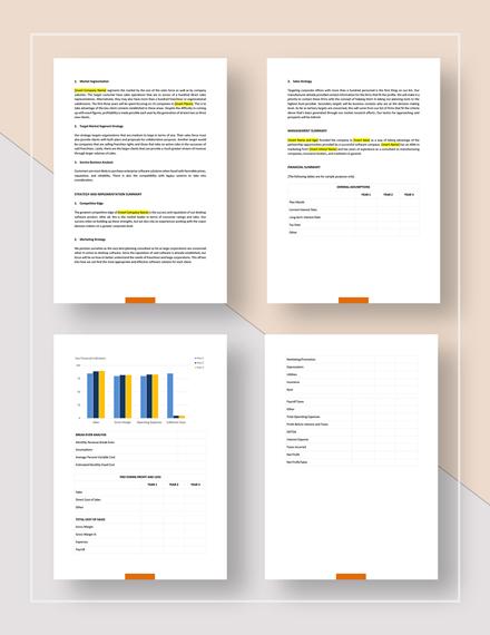 Simple Simple Sales Business Plan