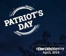 Free Patriot's Day Pinterest Profile Photo Template