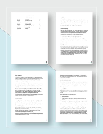 Corrective Action Plan Download