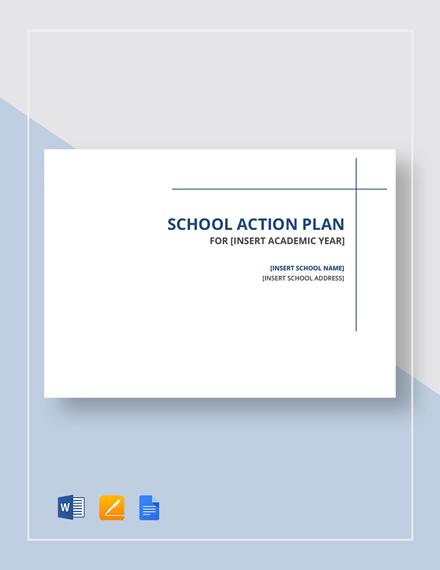 School Action Plan Template