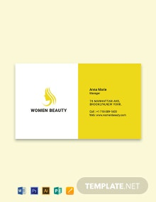 Free Beauty Parlor Business Card Template