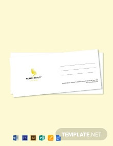 Free Beauty Parlor Envelope Template