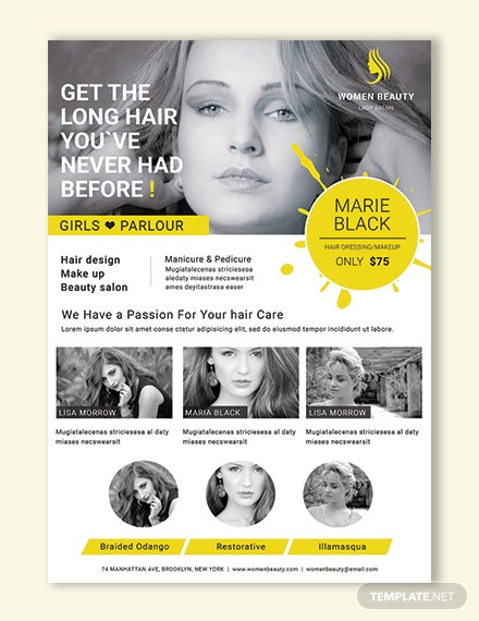 Free Beauty Parlor Poster Template