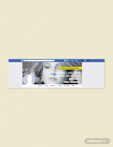 Free Beauty Parlor Facebook Cover Page Template