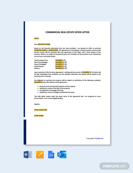 Commercial Real Estate Offer Letter