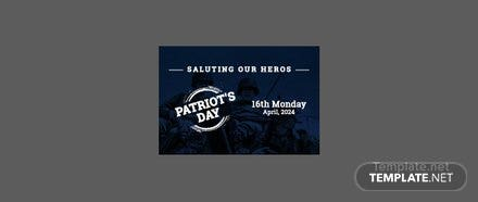 Free Patriot's Day Pinterest Board Cover Template