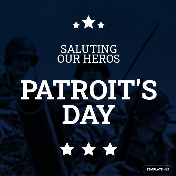 Patriot's Day Pinterest Board Cover Template