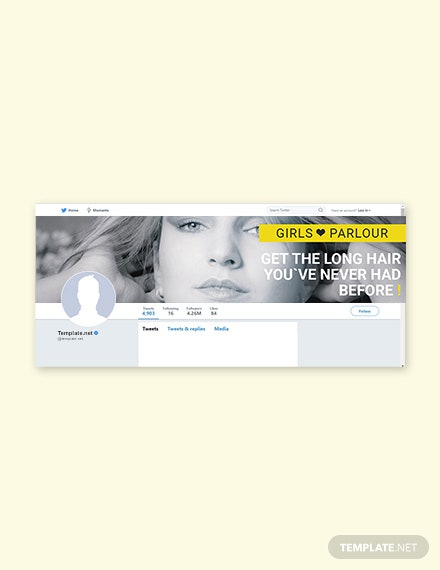 Beauty Parlor Twitter Cover Template [Free PSD]