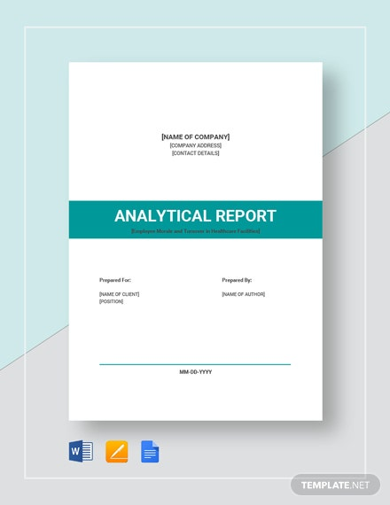 Analytical Report Template