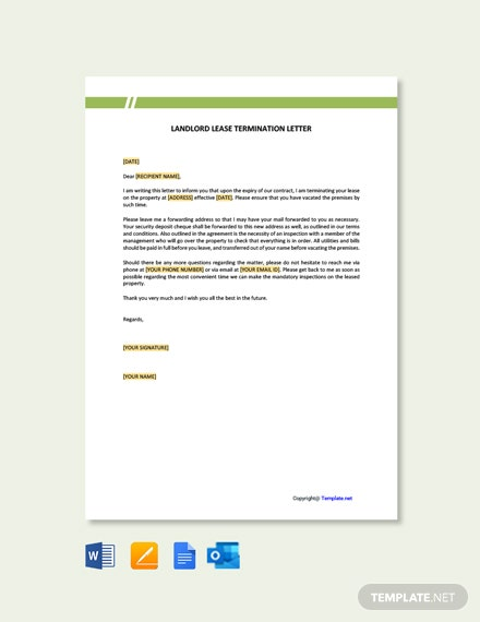 FreeLandlordLeaseTerminationLetterTemplate