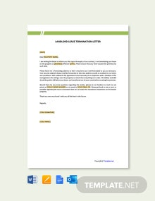 Free Landlord Lease Termination Letter Template
