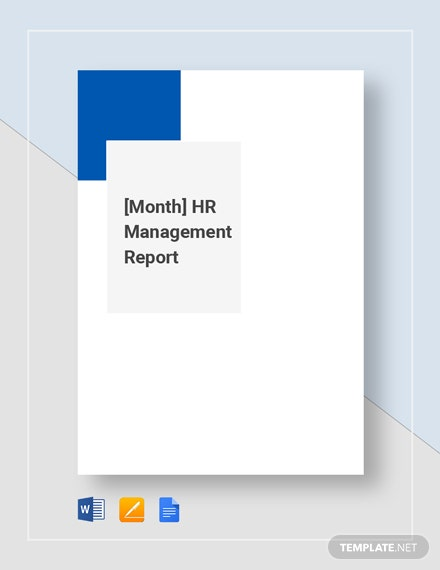 HR Monthly Management Report Template