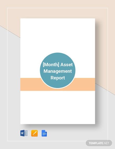 Asset Management Monthly Report
