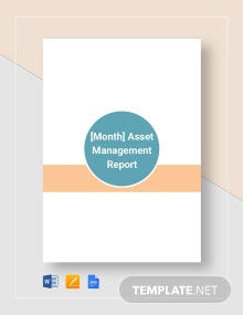 Asset Management Monthly Report Template