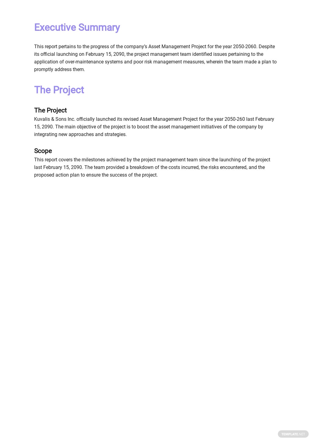 Asset Management Monthly Report Template 1.jpe