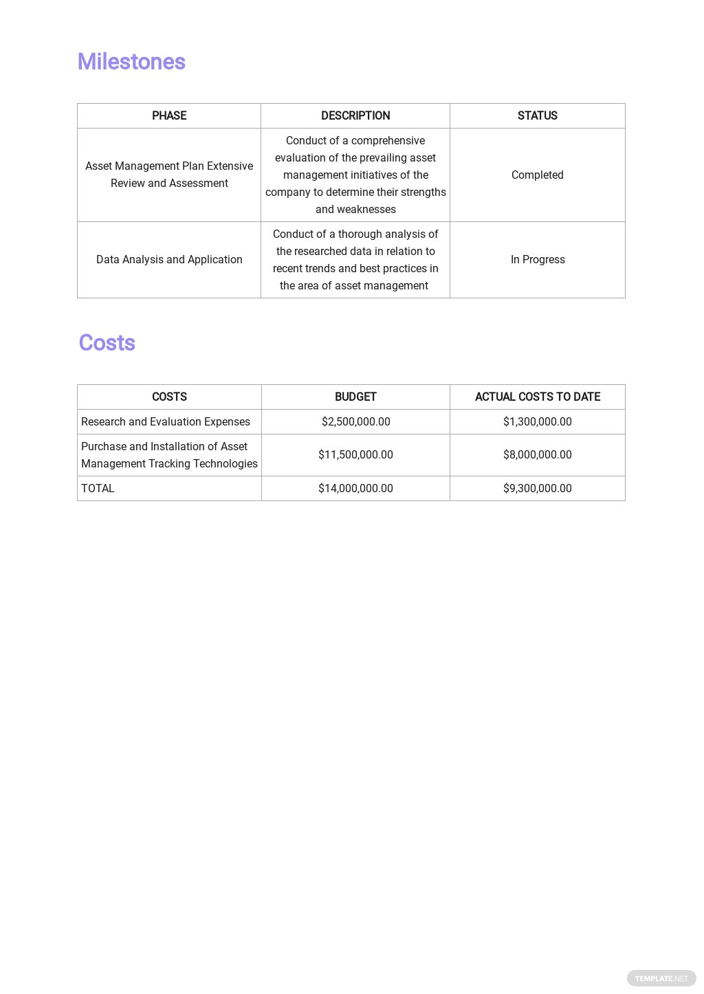 Asset Management Monthly Report Template 2.jpe